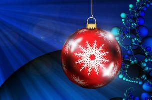 Фото бесплатно Новогоднее украшение, украшения, новогодние обои