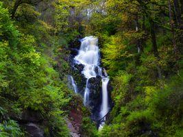 Заставки скалы,водопад,лес,деревья,природа