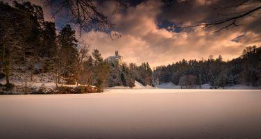 Бесплатные фото Trakoscan Castle,Croatia,Замок Тракоскан,Хорватия,зима