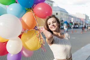 Фото бесплатно воздушные шары, красиво, город