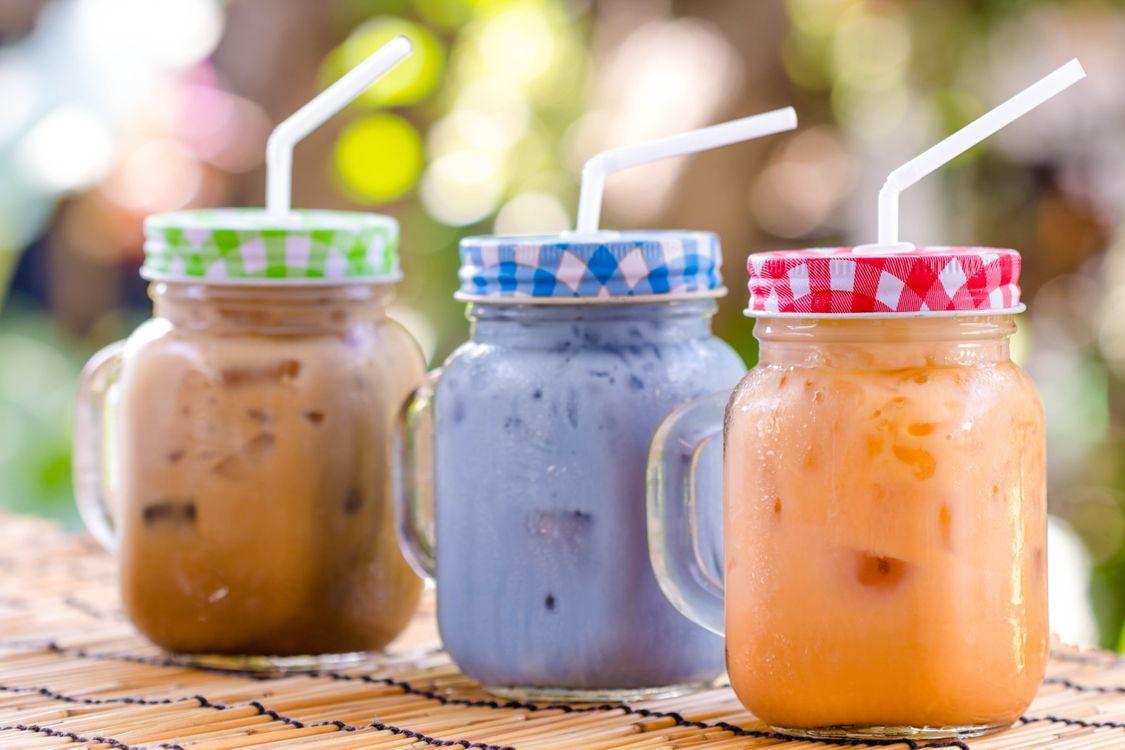 Фото бесплатно баночки, йогурт, фрукты - на рабочий стол