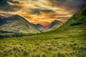 Фото бесплатно mountains, meadow, landscape