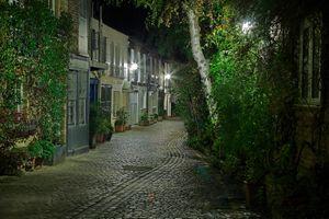 Бесплатные фото Скрытый Лондон,Kynance Mews,Лондон,Великобритания,город,улица,ночь