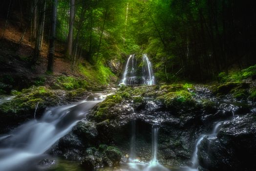 Photo free waterfall, waterfalls, forest