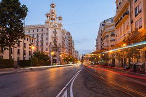 Бесплатные фото Валенсия,Испания,город,дорога,дома,фонари