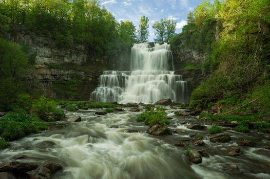 Бесплатные фото Водопад Читтенанго,Казеновия,Нью-Йорк