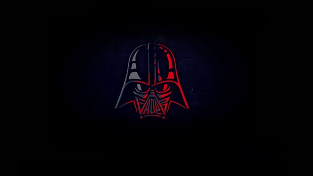 Darth Vader on a black background · free photo