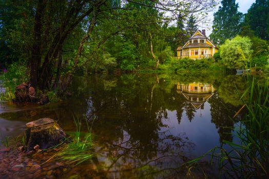 Фото бесплатно Kotka, Finland, озеро, домик, лес, деревья, природа, пейзаж