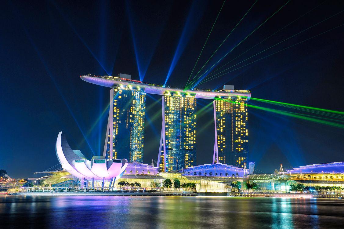 Фото бесплатно Marina Bay, Singapore, город - на рабочий стол