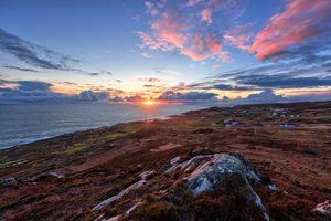 Бесплатные фото Crohy Head,графство Донегал,Ирландия,закат,море,берег,небо