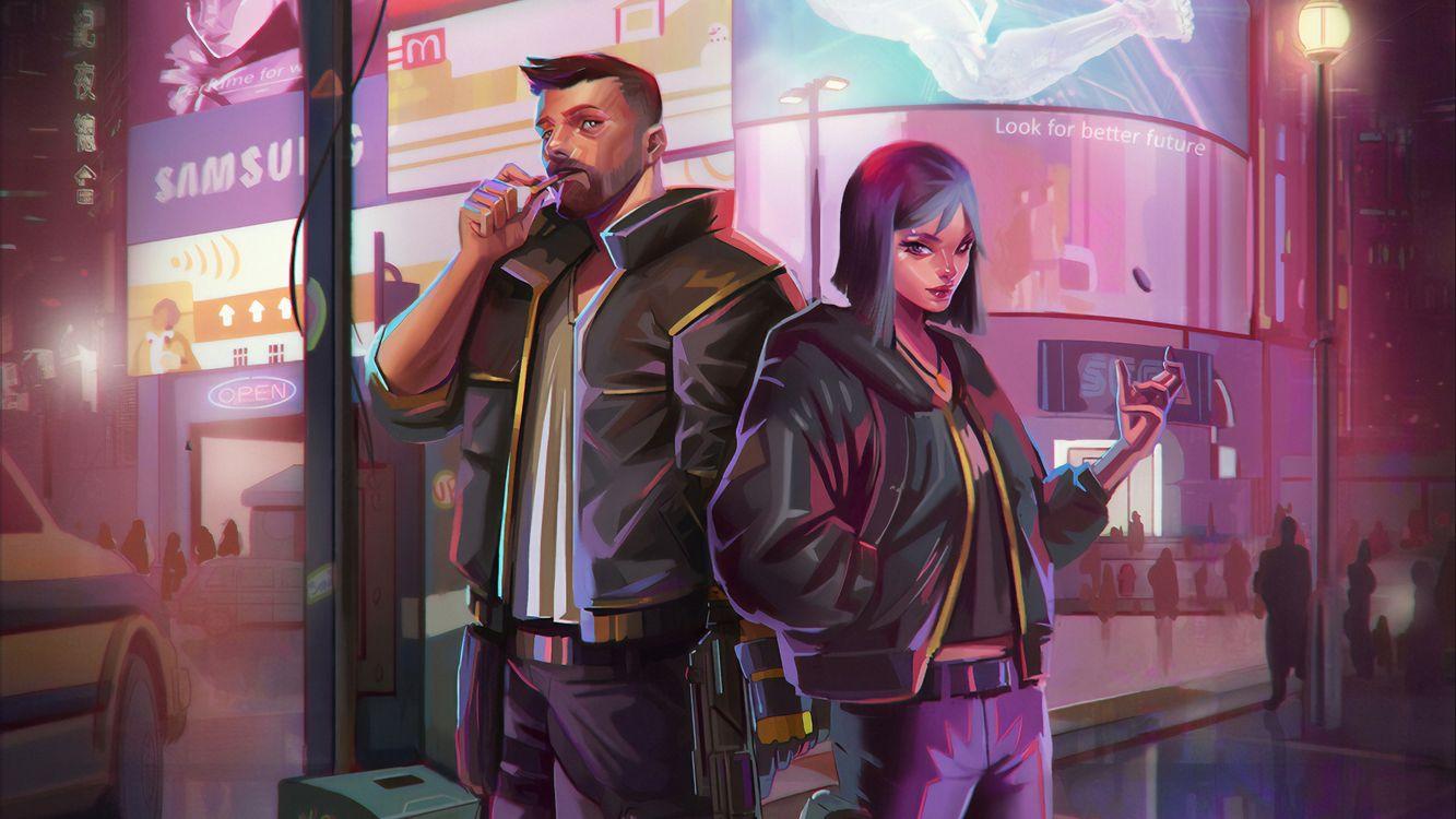 Обои Киберпанк 2077, Игр, Игр PS картинки на телефон