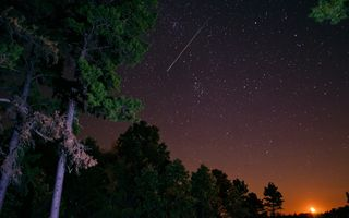 Заставки комета, Метеор, ночь