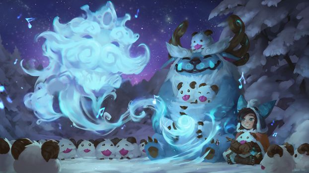 Фото бесплатно Лига Легенд, Нуну и willump, снег