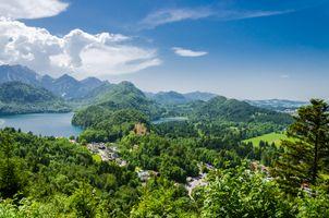 Бесплатные фото Neuschwanstein Castle,Bavaria,Germany,Hohenschwangau,Schwangau,Schwansee,Alpsee