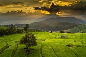 Фото бесплатно Ban Papongpieng, простор, тучи