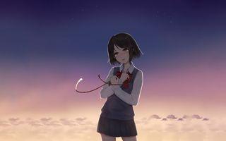 Заставки mitsuha miyamizu, слезы, kimi no на ва