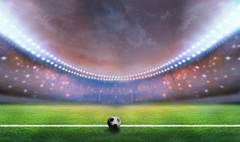 Фото бесплатно плакат, футбол, спорт, футбольное поле, мяч, арена
