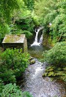 Заброшенный домик у ручья · бесплатное фото