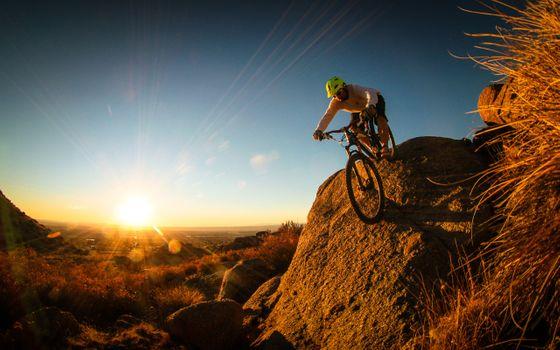 Фото бесплатно велосипед, горы, езда