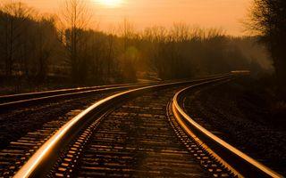Фото бесплатно пейзажи, настроение, железная дорога