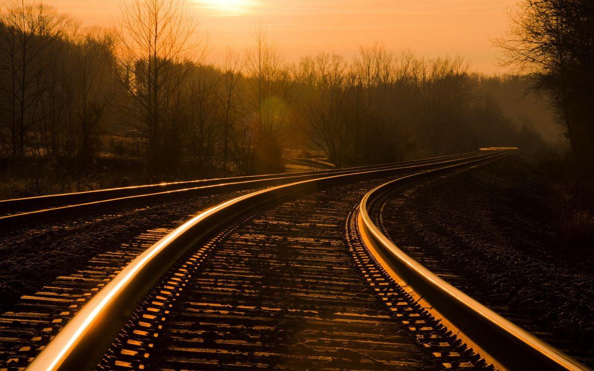 Фото бесплатно пейзажи, настроение, железная дорога - на рабочий стол