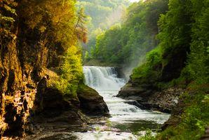 Фото бесплатно Letchworth State Park, водопад, река