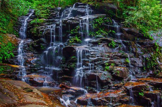 Заставки скалы, водопад, каскад