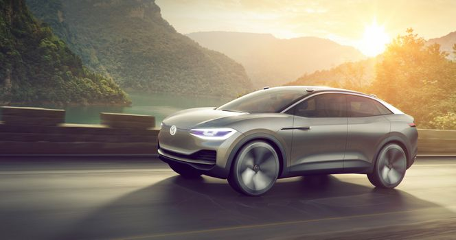 Photo free Volkswagen ID Crozz, the crossover, the track