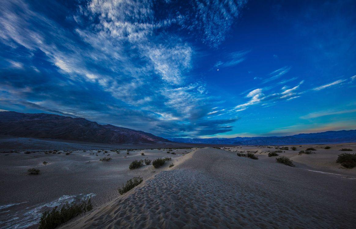 Фото бесплатно Мескитовые плоские песчаные дюны, Долина Смерти, Калифорния - на рабочий стол