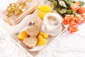 Фото бесплатно завтрак, кофе, тосты