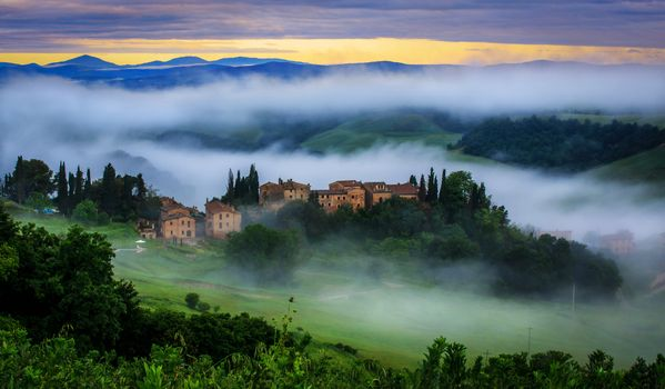 Фото бесплатно Италия, Тоскана, туман
