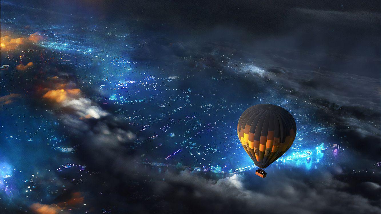 Фото бесплатно воздушный шар, небо, тучи - на рабочий стол