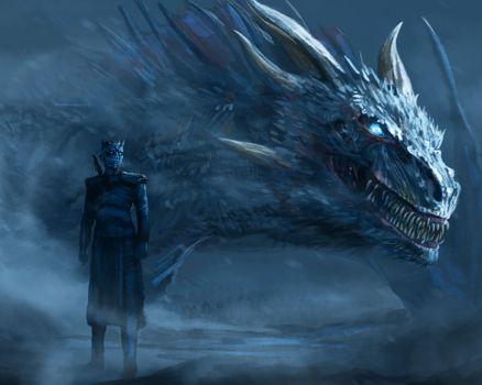 Бесплатные фото Игра престолов,8 сезон,ледяной дракон,рисунок,демон