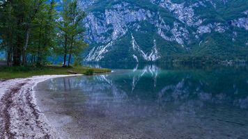 Заставки пляж, озеро, горы