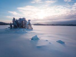 Фото бесплатно облака, снег, зима