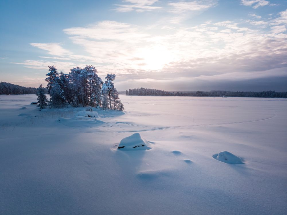 Фото бесплатно облака, снег, зима - на рабочий стол