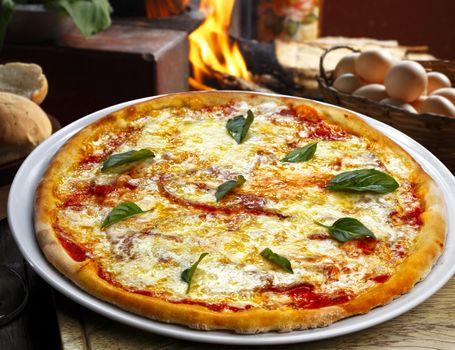 Фото бесплатно пицца, огонь, яйца