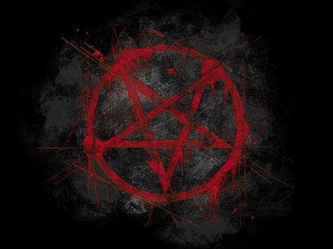 Фото бесплатно черный, пентаграммы, красный