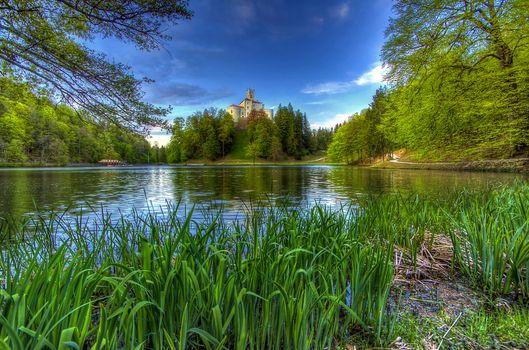 Photo free Casle Trakoscan, Croatia, lake
