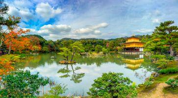 Фото бесплатно Kinkakuji Golden Pavilion, Kinkakuji Temple, Kyoto