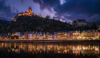 Бесплатные фото Кохем замок,Reichsburg,Рейхсбург,Кохем,Императорский замок,мозельвейн,река Мозель