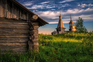 Бесплатные фото пейзаж,Россия,деревня,трава,небо,облака,природа