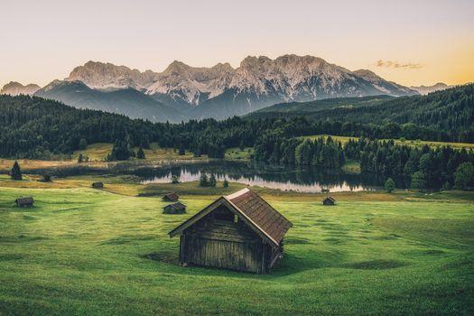 Photo free South Tyrol, Alps, Lake Geroldsee