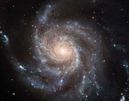 Фото бесплатно спиральная туманность, вертушка галактика, звезды