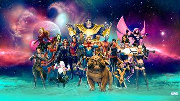 Заставки Marvel, супергерои, Digital Art