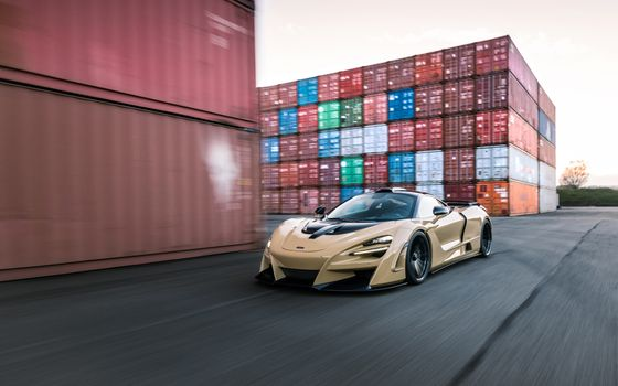 Photo free McLaren, beige, containers