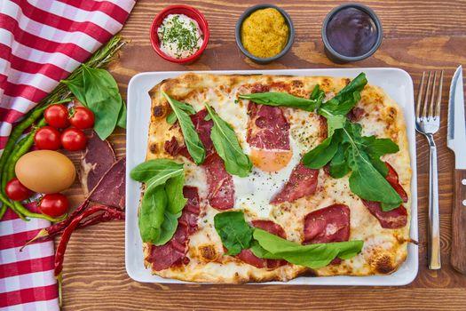 Rectangular pizza · free photo