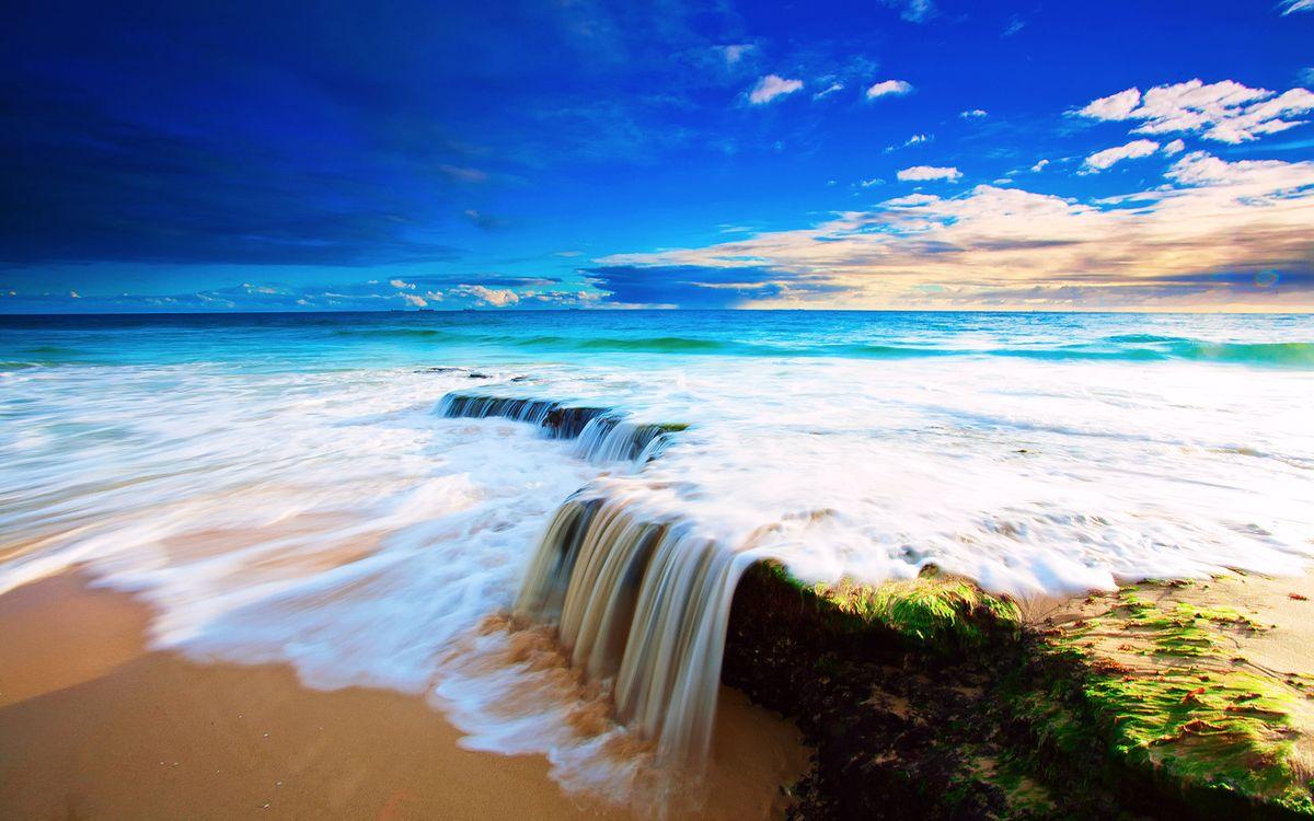 Фото бесплатно пляж, океан, скалы - на рабочий стол