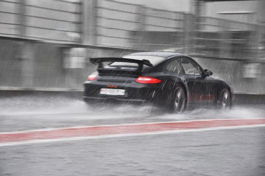 Заставки дождь, брызги, Porsche