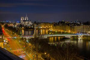 Заставки город, освещение, Франция